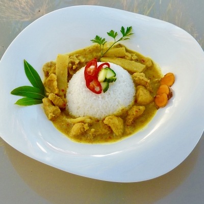 CHICKEN IN COCONUT SAUCE