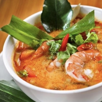 LEMONGRASS SOUP WITH PRAWNS (TOM YUM GOONG)